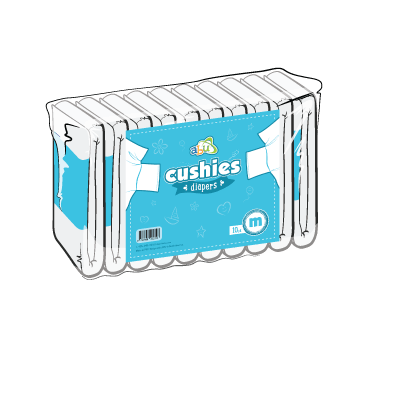 Back Diapers Cushies
