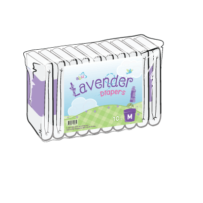 Back Diapers Lavender